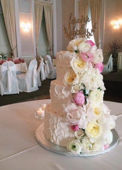 Stucco Wedding Cake