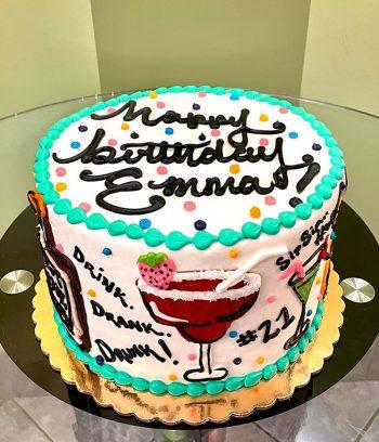 21st Birthday Layer Cake - Top