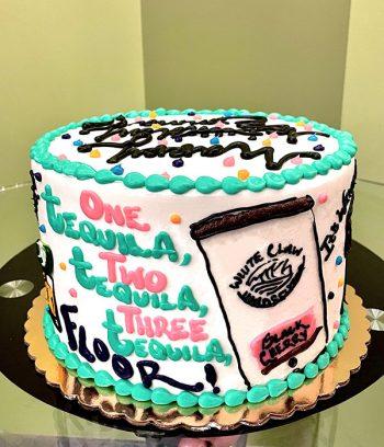 21st Birthday Layer Cake - Side