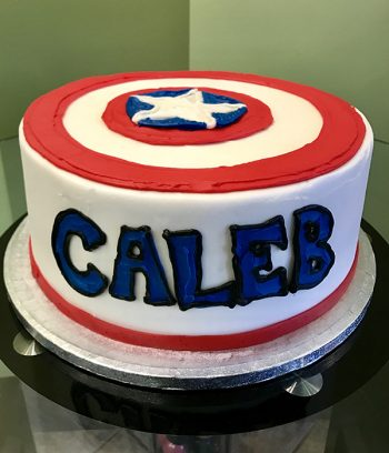 Captain America Layer Cake - Back