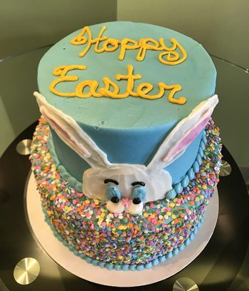 Easter Bunny Tiered Cake - Top