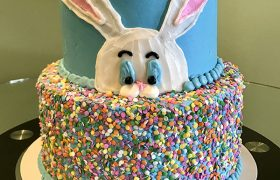 Easter Bunny Tiered Cake