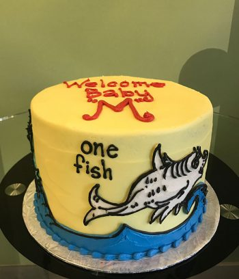 """One Fish Two Fish Layer Cake 6"""" - Front"""