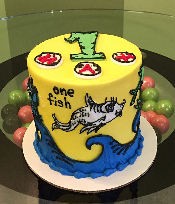 One Fish Two Fish Layer Cake - Back