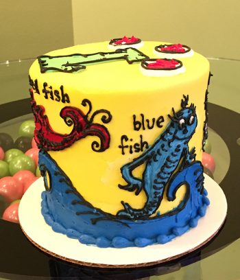One Fish Two Fish Layer Cake - Side