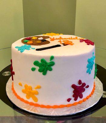 Paint Palette Layer Cake