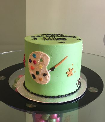Paint Palette Layer Cake - Green - Front
