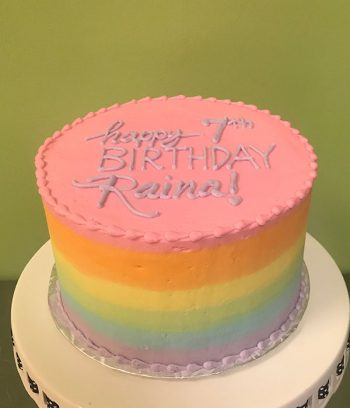 Rainbow Ombre Layer Cake, Pastel - Top