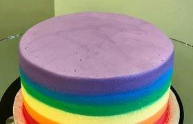 Rainbow Ombre Layer Cake - Top