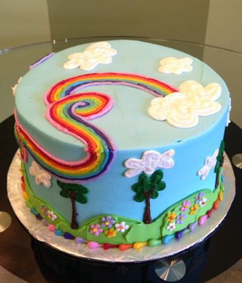 Rainbow Garden Layer Cake - Side