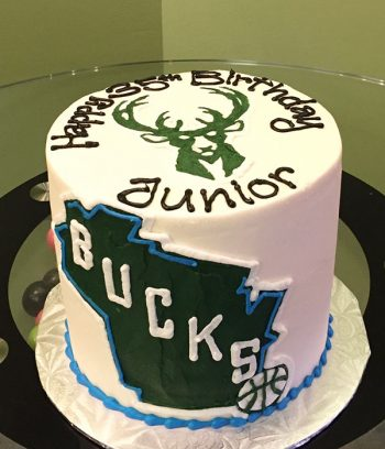 Sports Team Layer Cake - Milwaukee Bucks