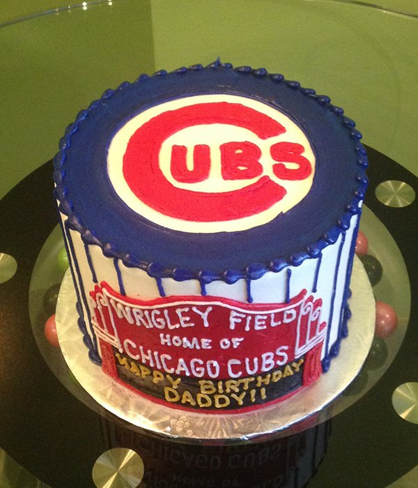 Sports Team Layer Cake - Chicago Cubs - Top