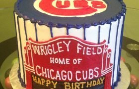 Sports Team Layer Cake - Chicago Cubs