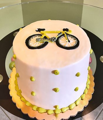 Bicycle Layer Cake - Lime Green