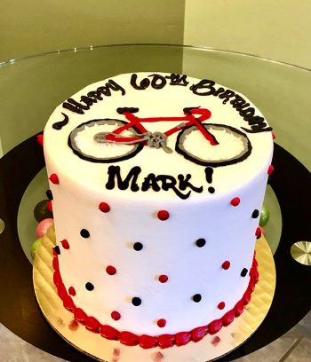 Bicycle Layer Cake - Red & Black