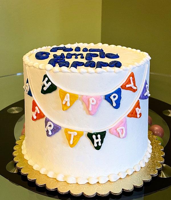 Birthday Banner Layer Cake