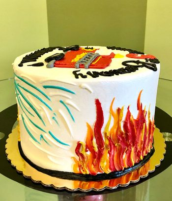 Fire Truck Layer Cake - Side