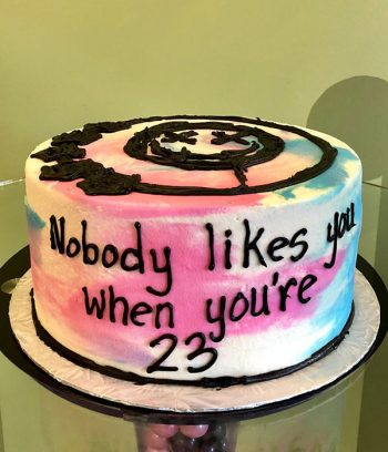 Nobody Likes You When You're 23 Layer Cake - Side