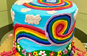 Rainbow Garden Layer Cake