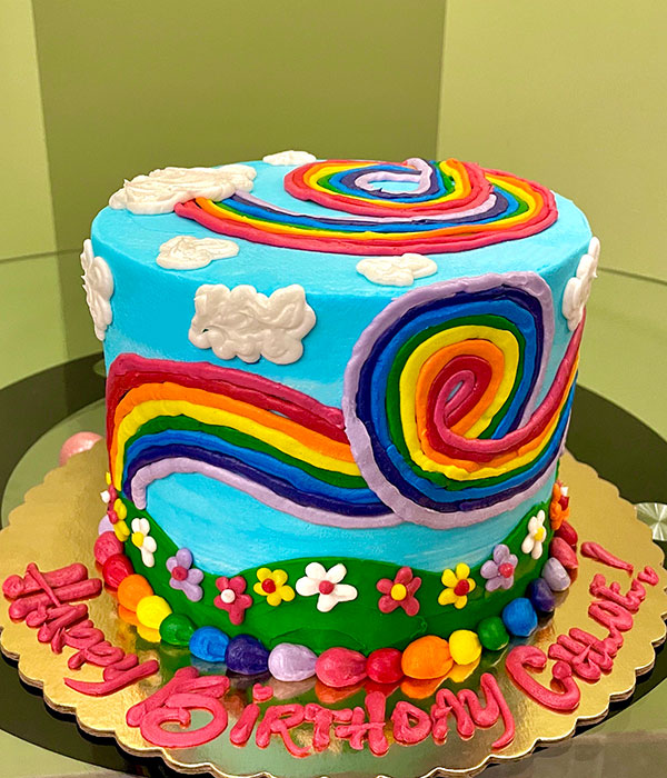 Rainbow Garden Layer Cake