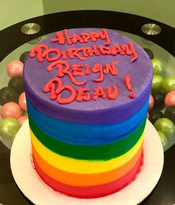 Rainbow Ombre Layer Cake
