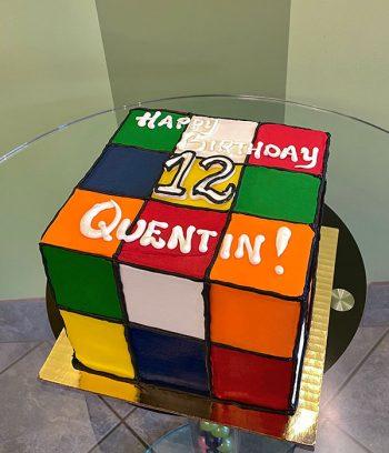 Rubik's Cube Layer Cake