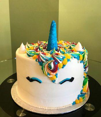 Unicorn Layer Cake - Blue Horn