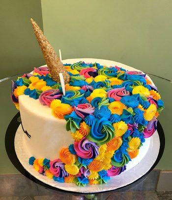 Unicorn Layer Cake - Gold Horn