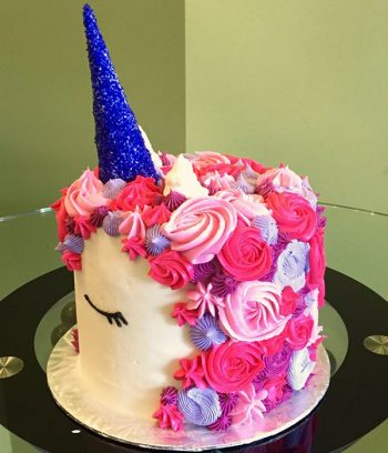 Unicorn Layer Cake - Purple Horn