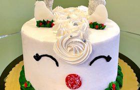 Reindeer Layer Cake - Front