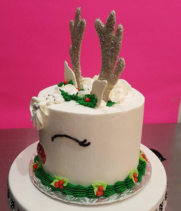 Reindeer Layer Cake - White - Side