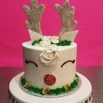 Reindeer Layer Cake - White