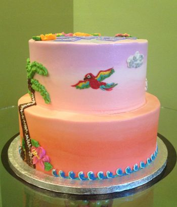 Tropical Tiered Cake - Side
