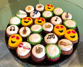 Decorated Cupcake Party Tray - Emoji, Golf Ball, Beer, Music