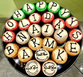 Decorated Cupcake Party Tray - Happy Holidays