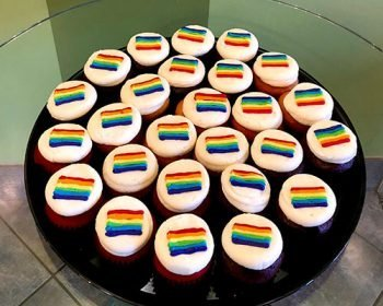Decorated Cupcake Party Tray - Pride Flag