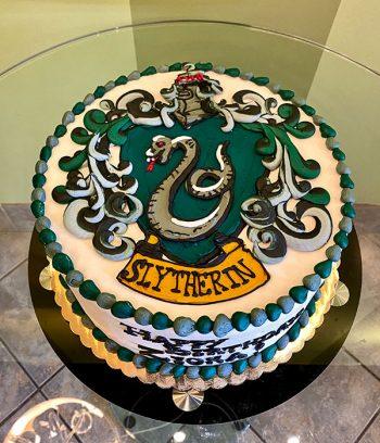 Harry Potter Shield Layer Cake - Slytherin