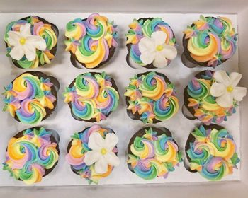 Unicorn Mane Cupcakes - Pastel Colors