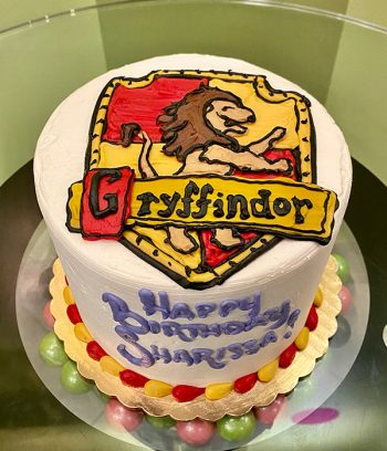 Harry Potter Shield Layer Cake - Top