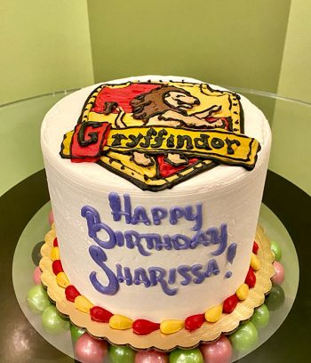 Harry Potter Shield Layer Cake