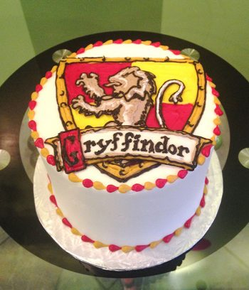 Harry Potter Shield Layer Cake