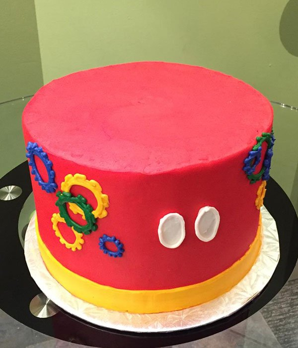 Mickey Mouse Clubhouse Layer Cake - Left Side