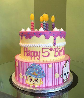 Shopkins Tiered Cake - Side