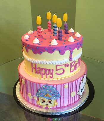 Shopkins Tiered Cake - Top