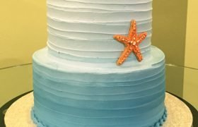 Starfish Tiered Cake