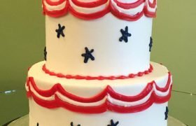 Stars & Stripes Tiered Cake