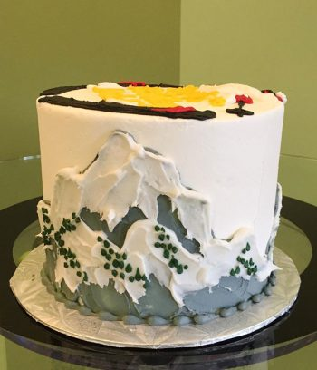 Skiing Layer Cake - Side