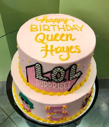LOL Surprise Tiered Cake - Top