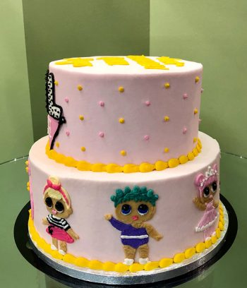 LOL Surprise Tiered Cake - Side