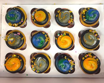 Planet Decorated Cupcakes